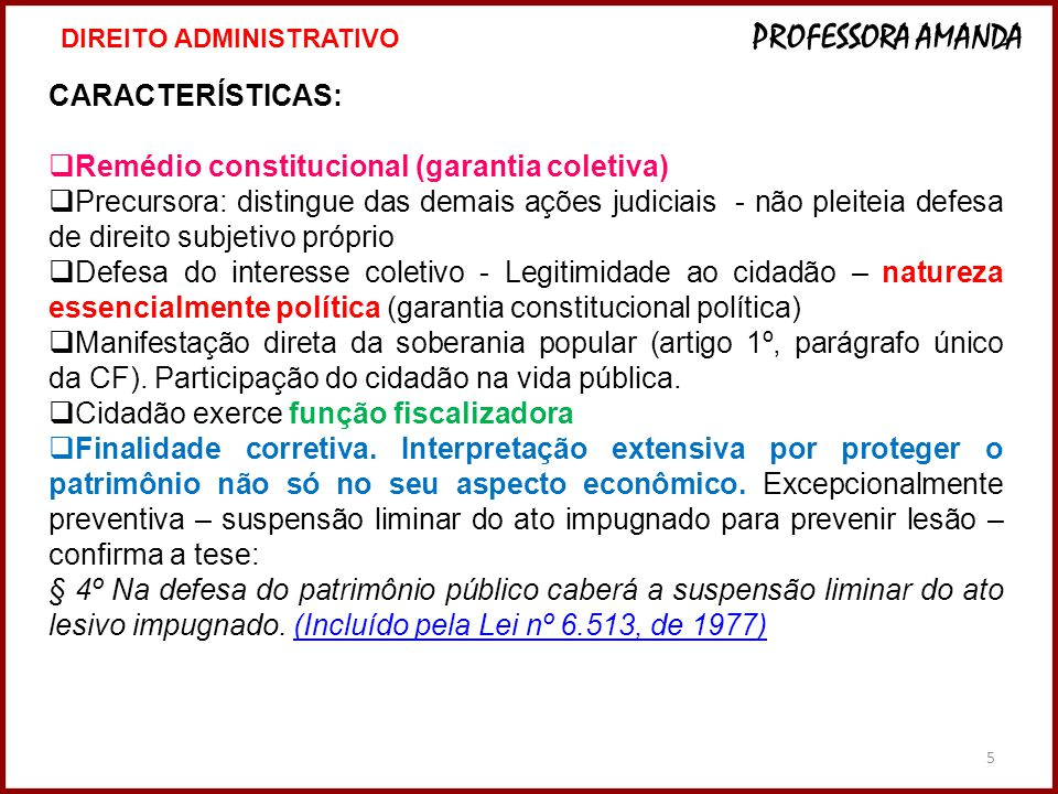Remédio constitucional (garantia coletiva)