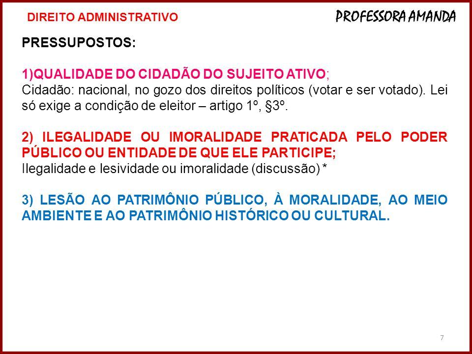 QUALIDADE DO CIDADÃO DO SUJEITO ATIVO;