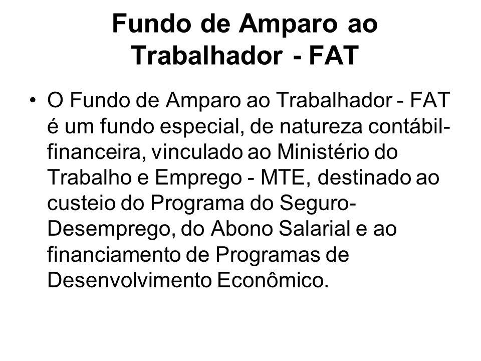 Fundo de Amparo ao Trabalhador - FAT