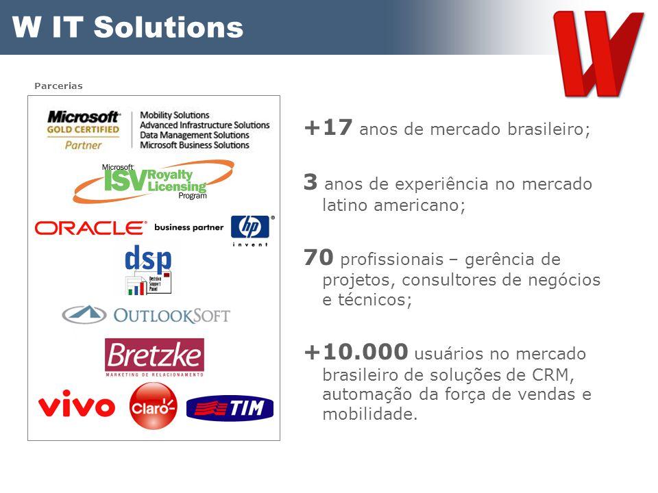 W IT Solutions +17 anos de mercado brasileiro;