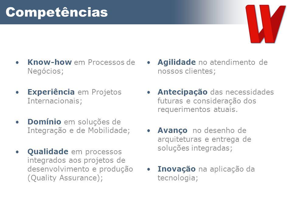 Competências Know-how em Processos de Negócios;