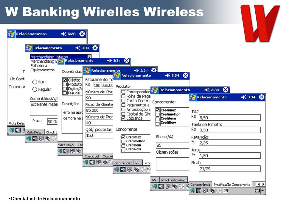 W Banking Wirelles Wireless