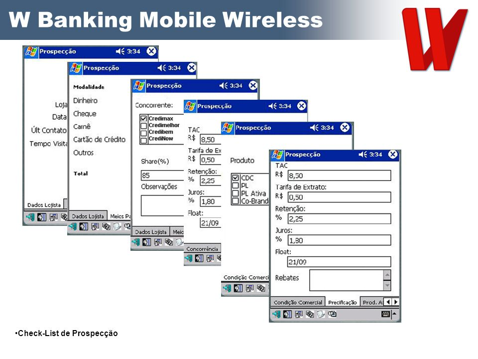 W Banking Mobile Wireless
