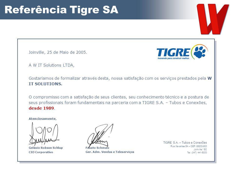 Referência Tigre SA A W IT Solutions LTDA,