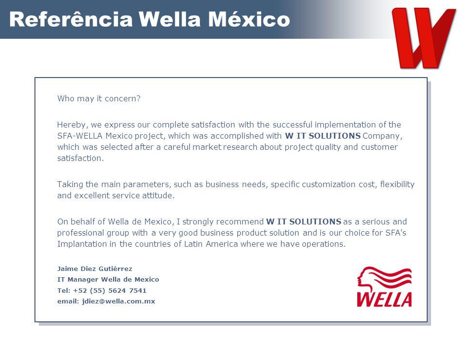 Referência Wella México