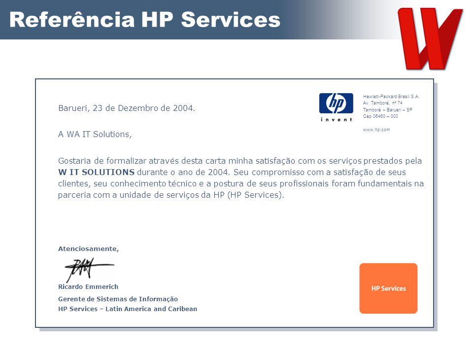 Referência HP Services