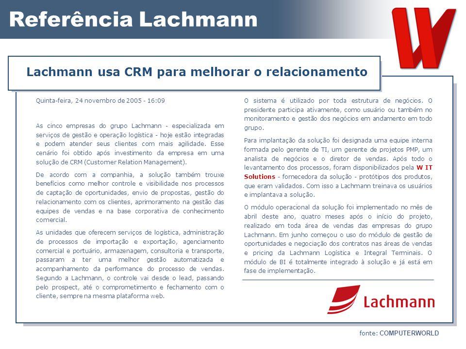Lachmann usa CRM para melhorar o relacionamento