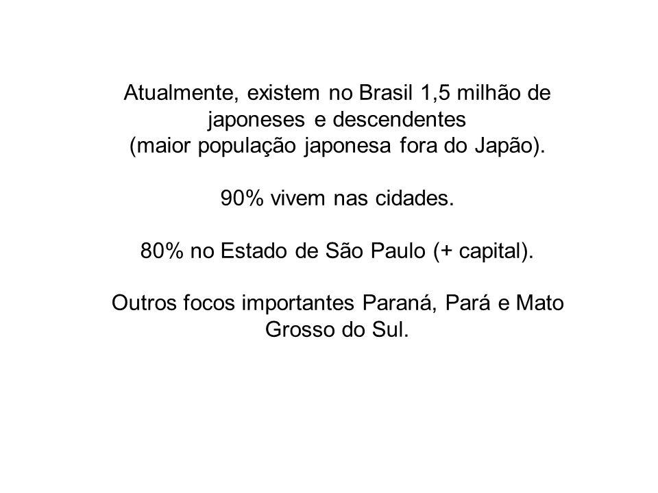 Atualmente, existem no Brasil 1,5 milhão de japoneses e descendentes