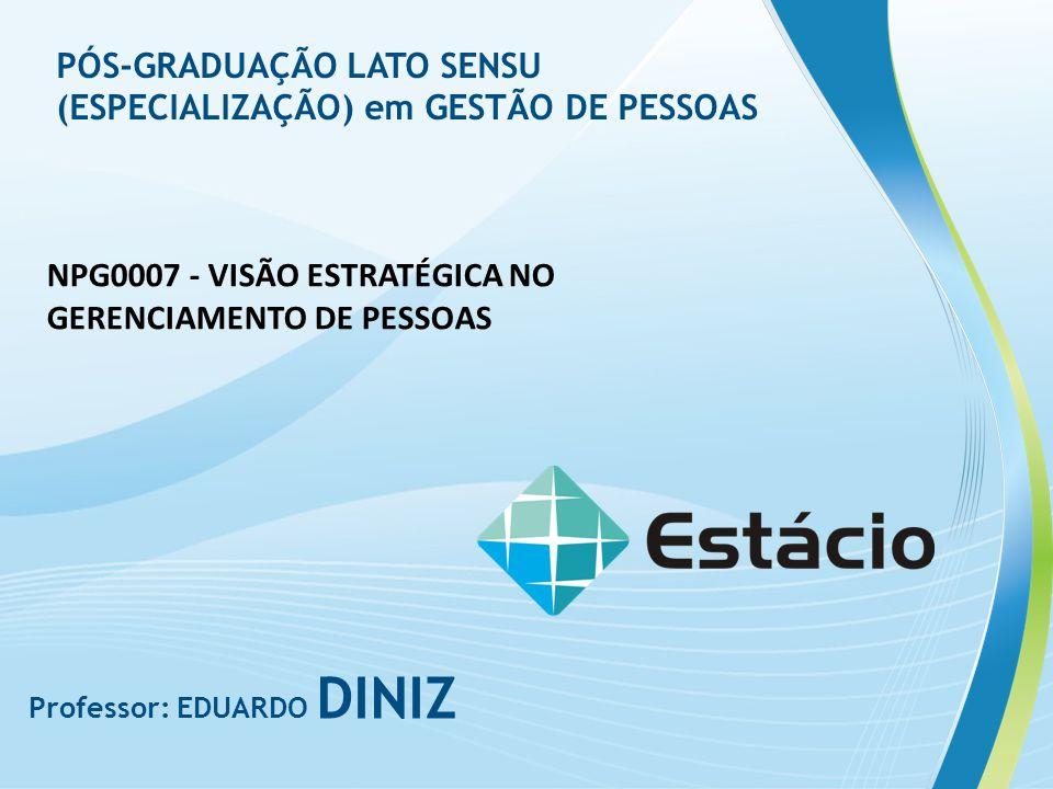 PÓS-GRADUAÇÃO LATO SENSU (ESPECIALIZAÇÃO) em GESTÃO DE PESSOAS