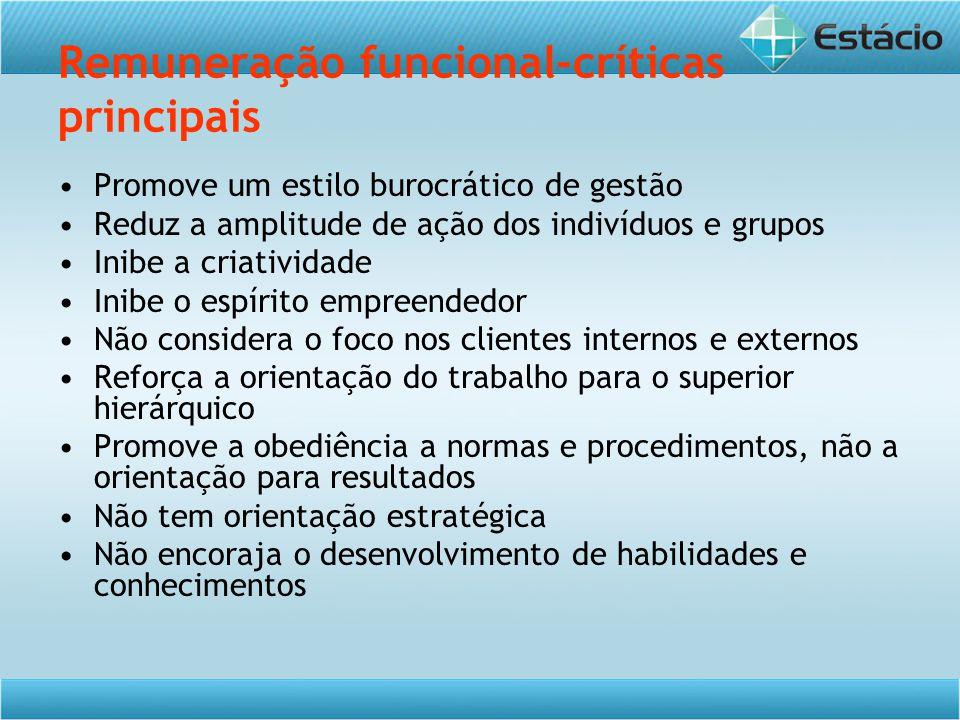 Remuneração funcional-críticas principais