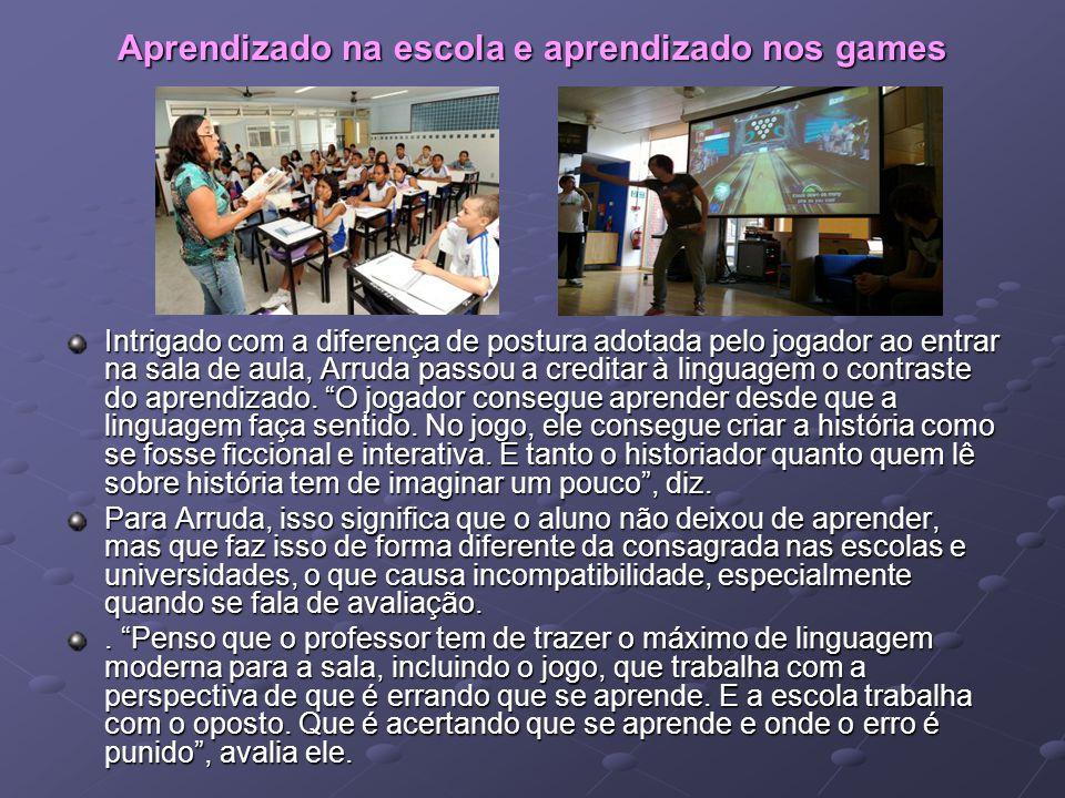 Aprendizado na escola e aprendizado nos games