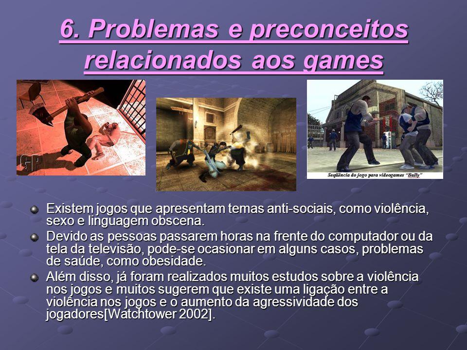 6. Problemas e preconceitos relacionados aos games