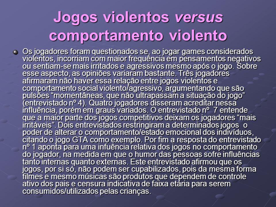 Jogos violentos versus comportamento violento
