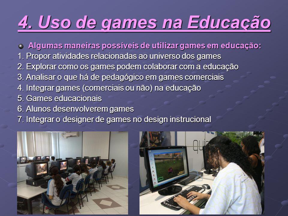 4. Uso de games na Educação