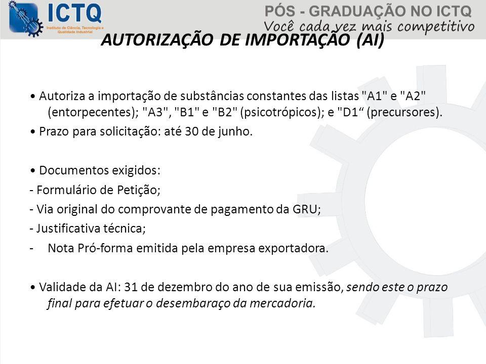 AUTORIZAÇÃO DE IMPORTAÇÃO (AI)