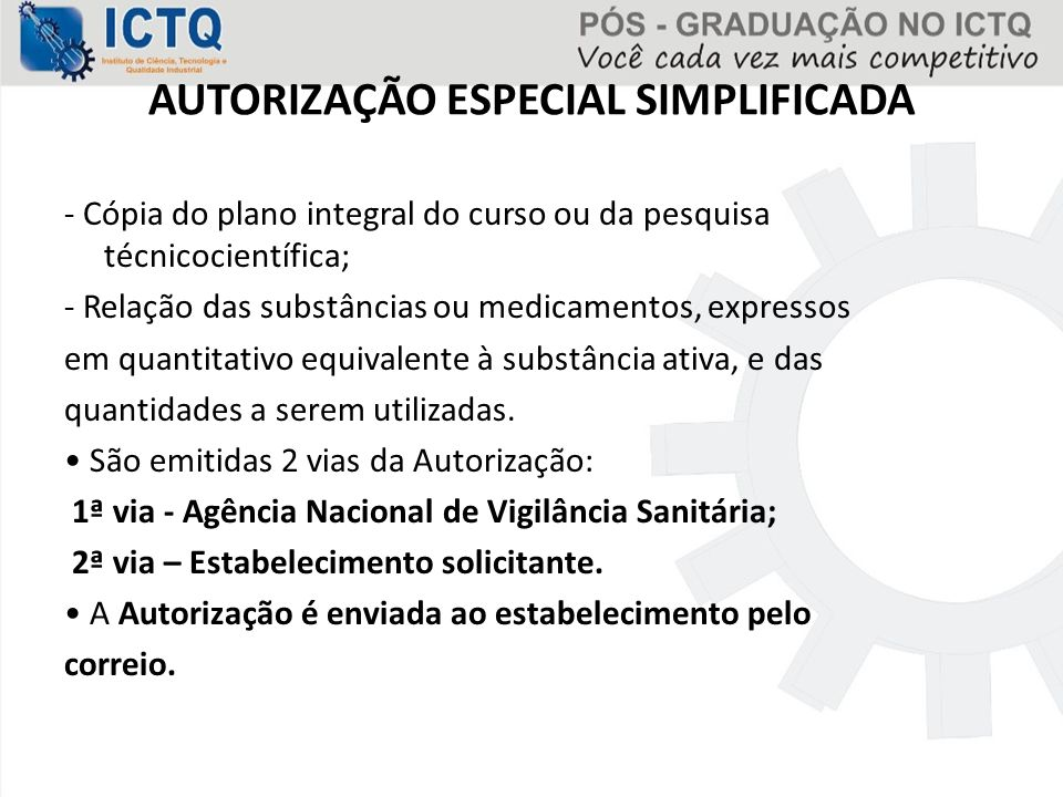 AUTORIZAÇÃO ESPECIAL SIMPLIFICADA