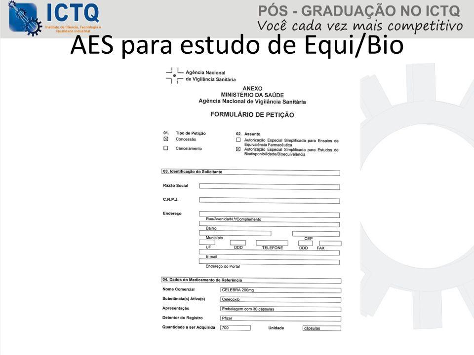 AES para estudo de Equi/Bio