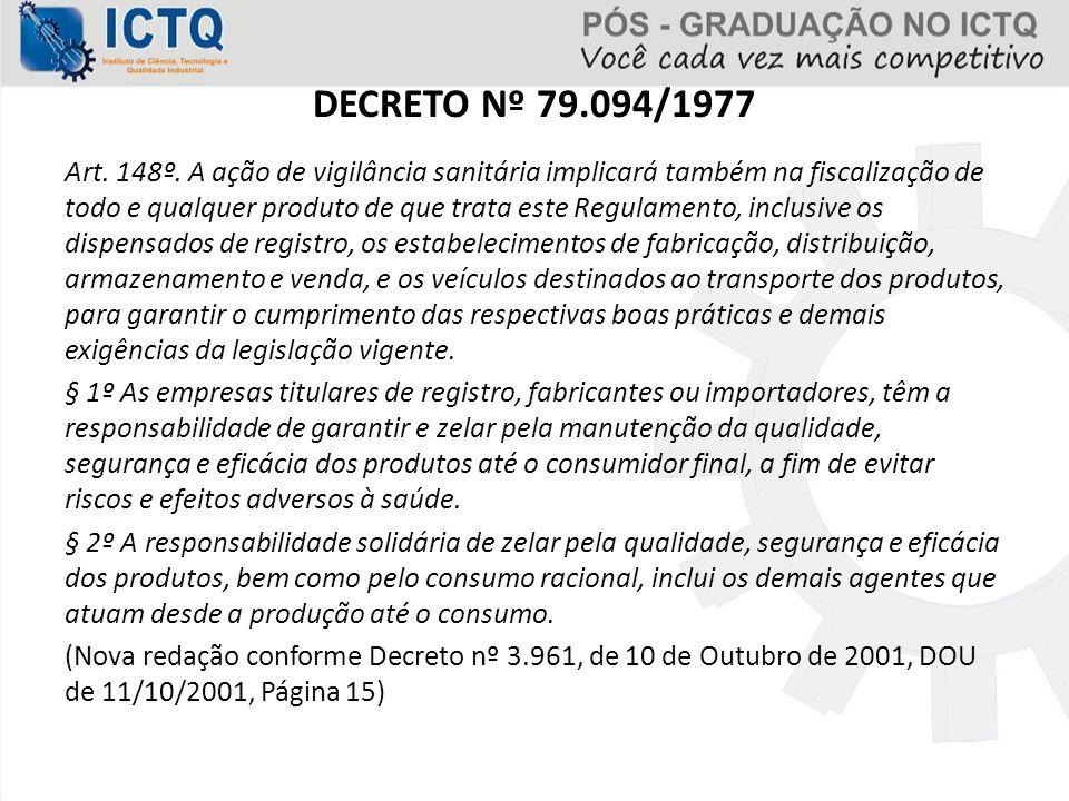 DECRETO Nº 79.094/1977