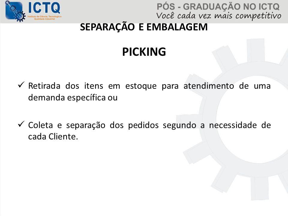 SEPARAÇÃO E EMBALAGEM PICKING