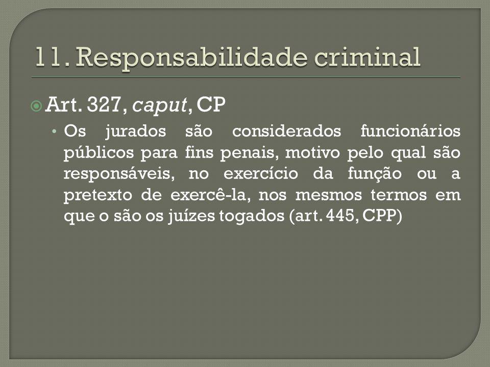 11. Responsabilidade criminal
