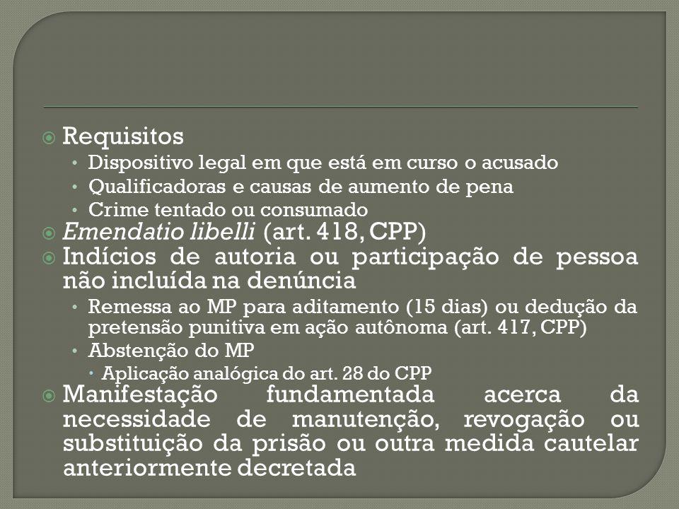 Emendatio libelli (art. 418, CPP)