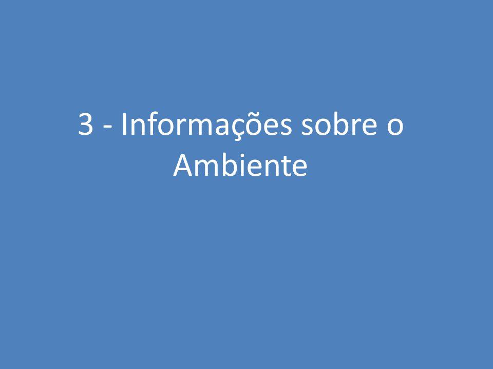 3 - Informações sobre o Ambiente