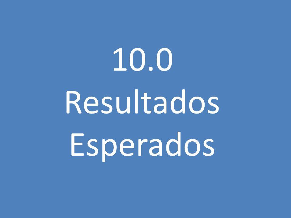 10.0 Resultados Esperados