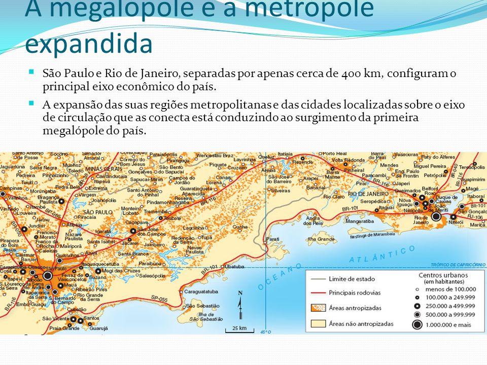 A megalópole e a metrópole expandida
