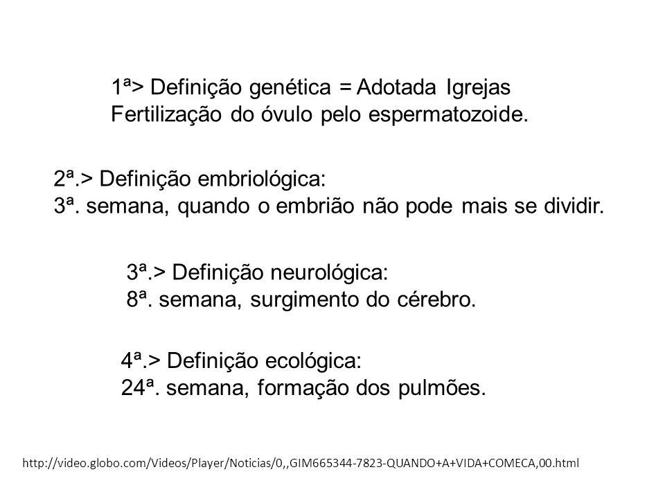 1ª> Definição genética = Adotada Igrejas