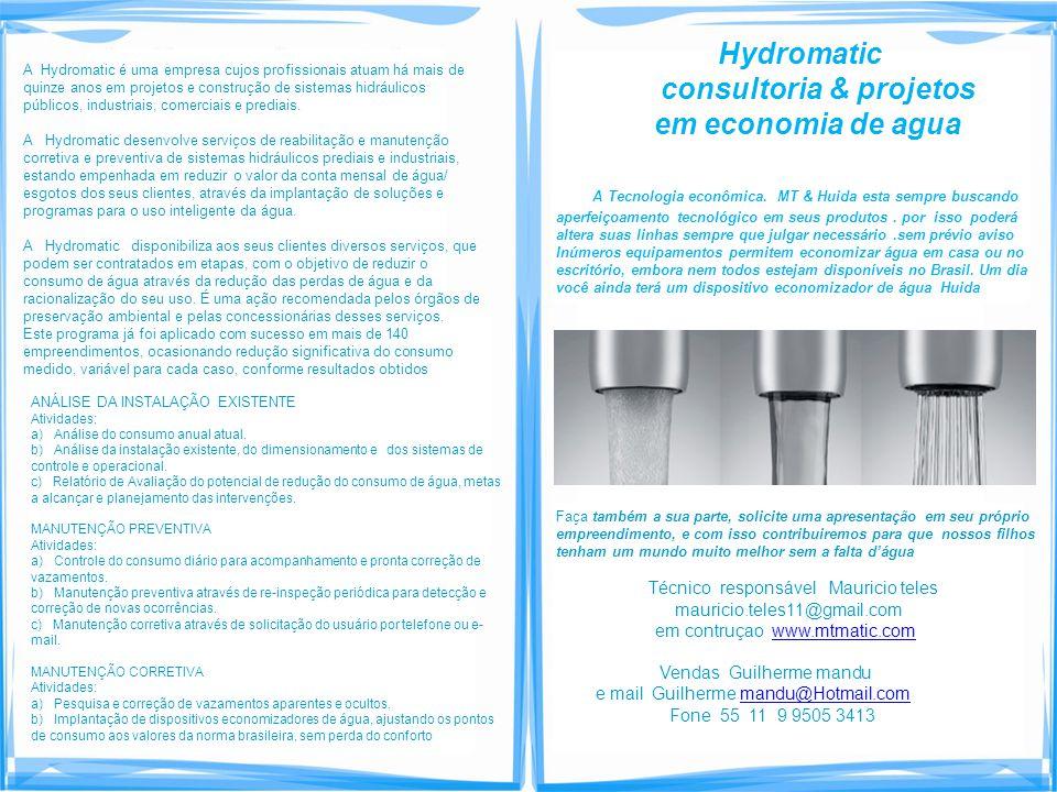 consultoria & projetos em economia de agua