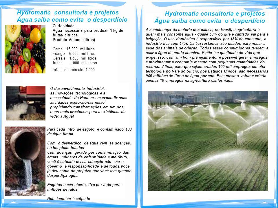 Hydromatic consultoria e projetos Água saiba como evita o desperdício