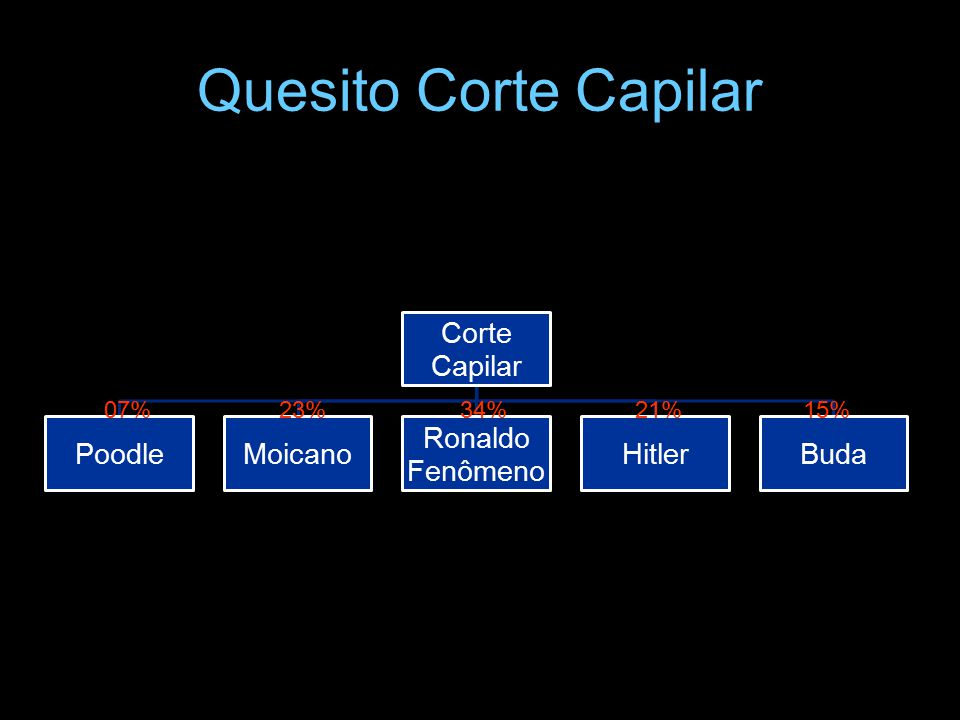 Quesito Corte Capilar 07% 23% 34% 21% 15% Corte Capilar Poodle Moicano