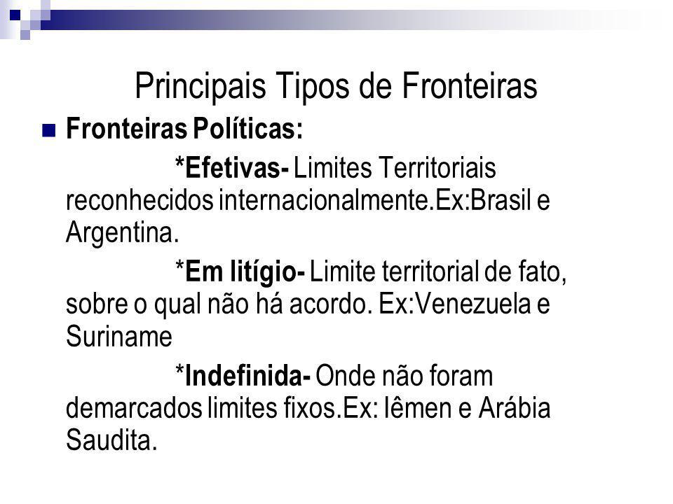 Principais Tipos de Fronteiras