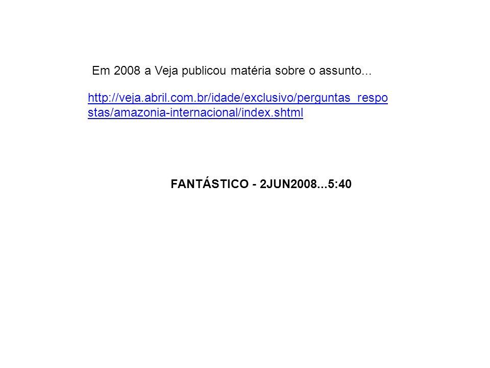 Em 2008 a Veja publicou matéria sobre o assunto...