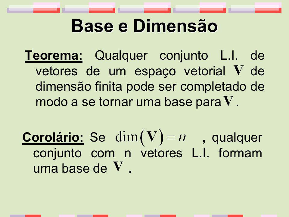 Base e Dimensão