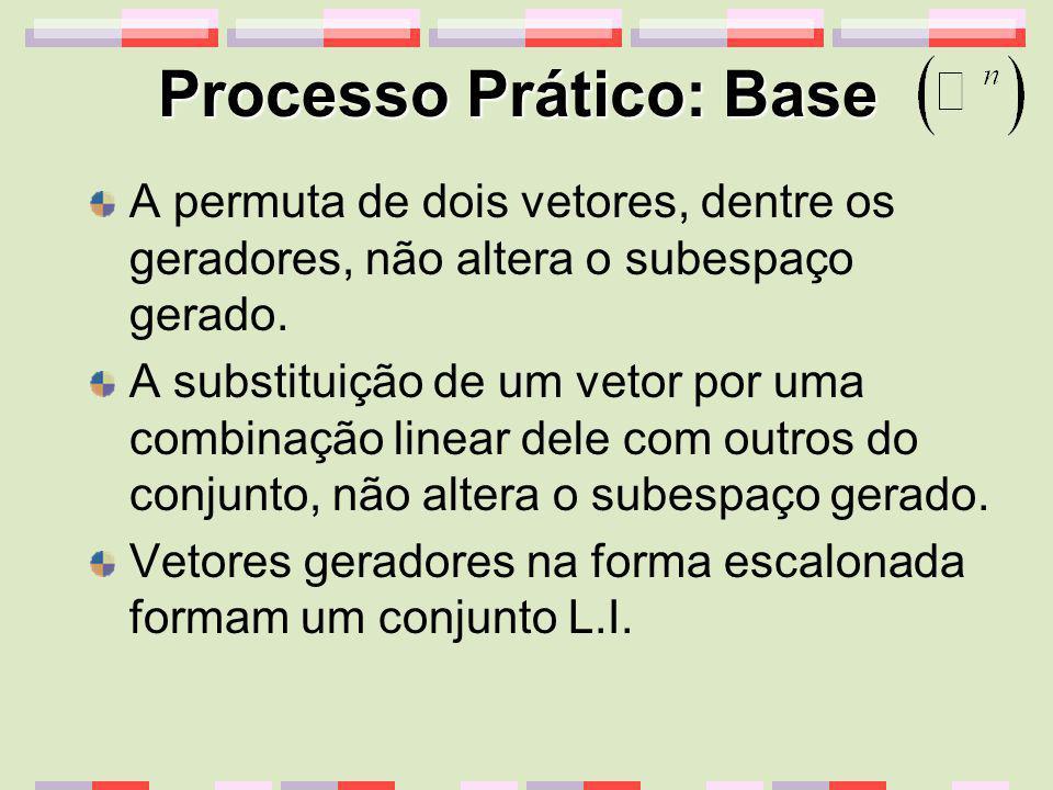 Processo Prático: Base