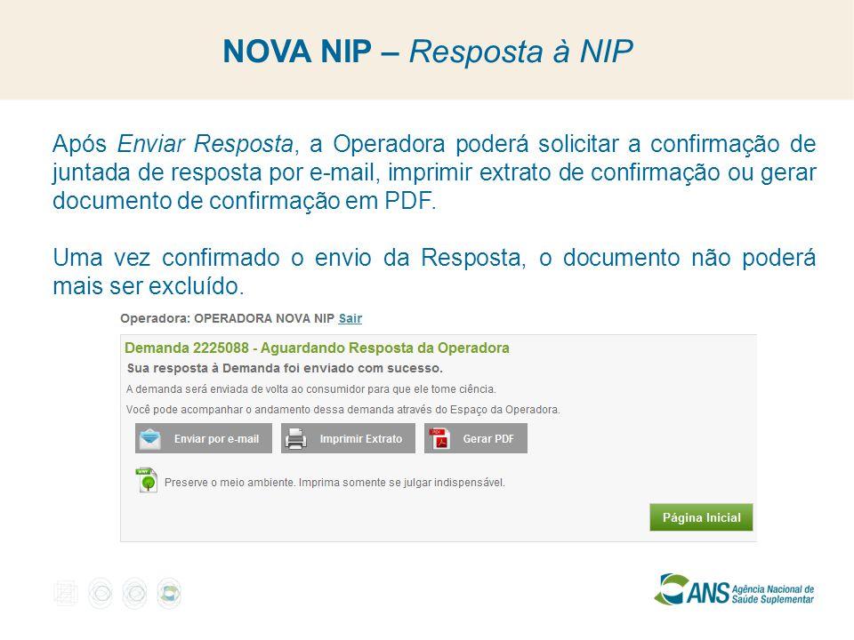 NOVA NIP – Resposta à NIP