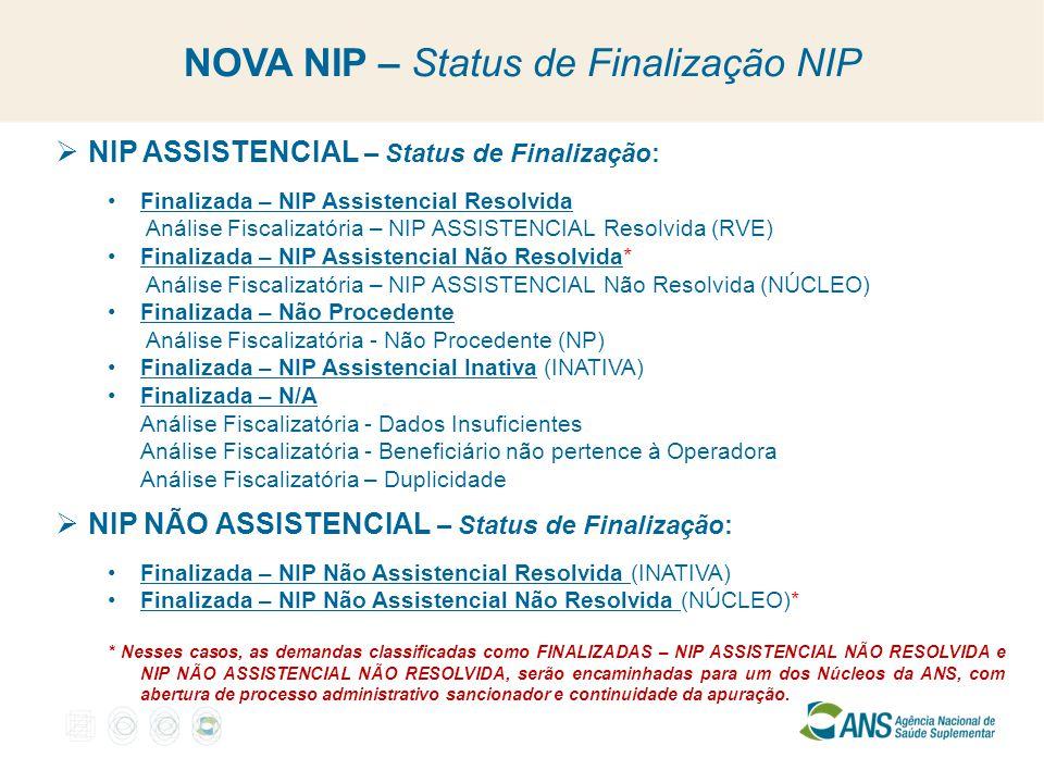 NOVA NIP – Status de Finalização NIP