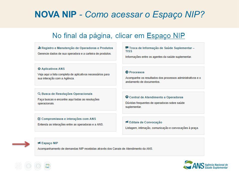 NOVA NIP - Como acessar o Espaço NIP