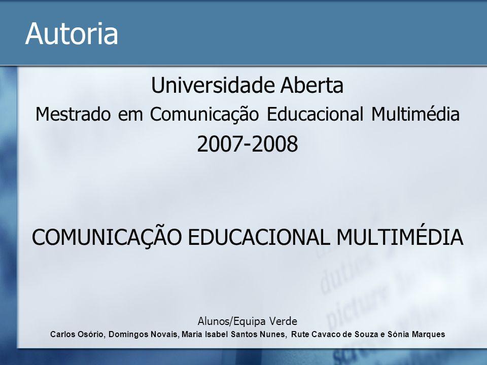 Autoria Universidade Aberta 2007-2008