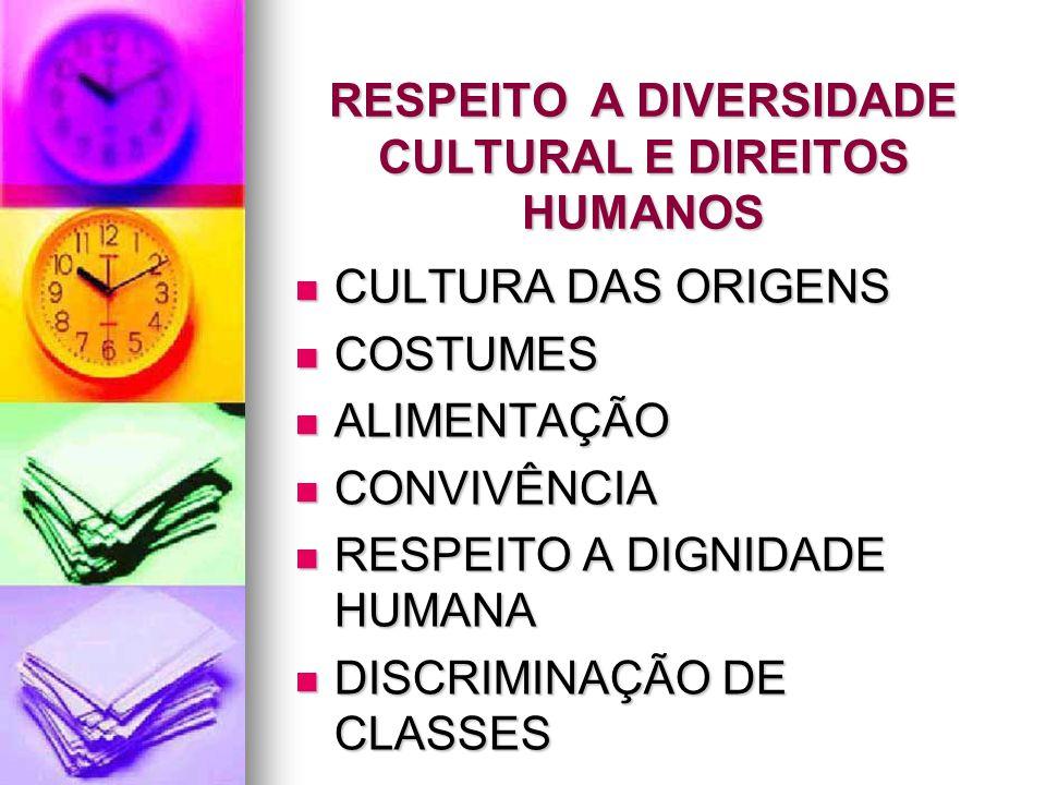 RESPEITO A DIVERSIDADE CULTURAL E DIREITOS HUMANOS
