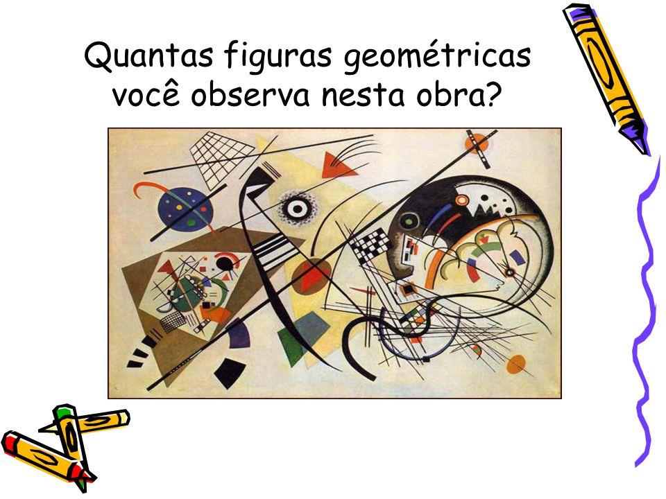 Quantas figuras geométricas você observa nesta obra