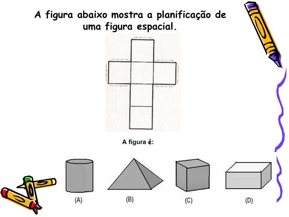 A figura abaixo mostra a planificação de uma figura espacial.