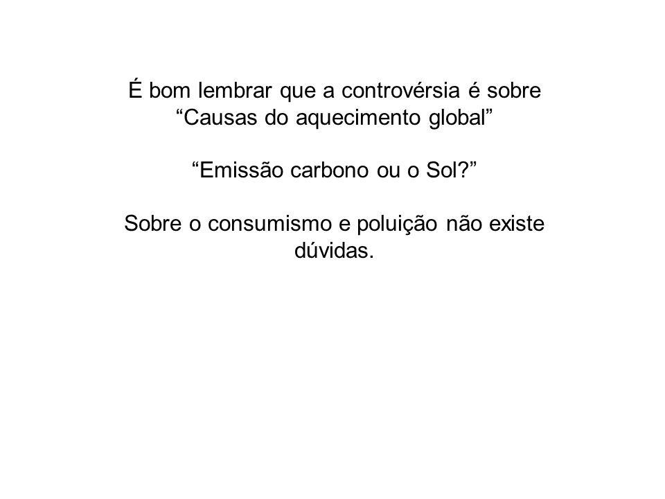 Emissão carbono ou o Sol