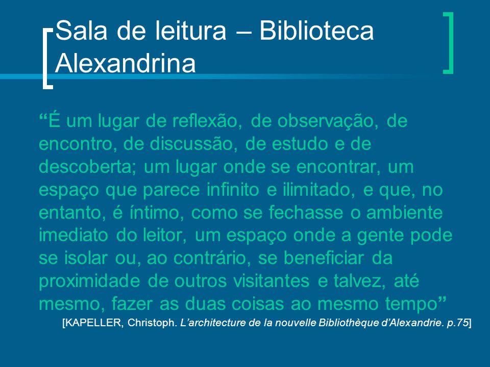 Sala de leitura – Biblioteca Alexandrina