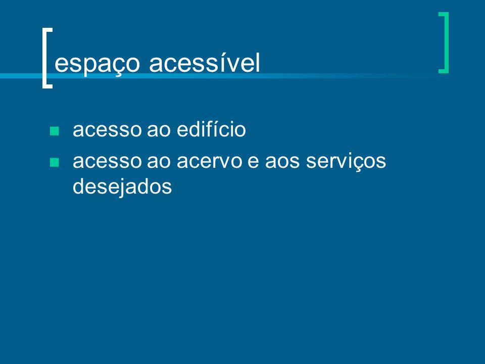 espaço acessível acesso ao edifício