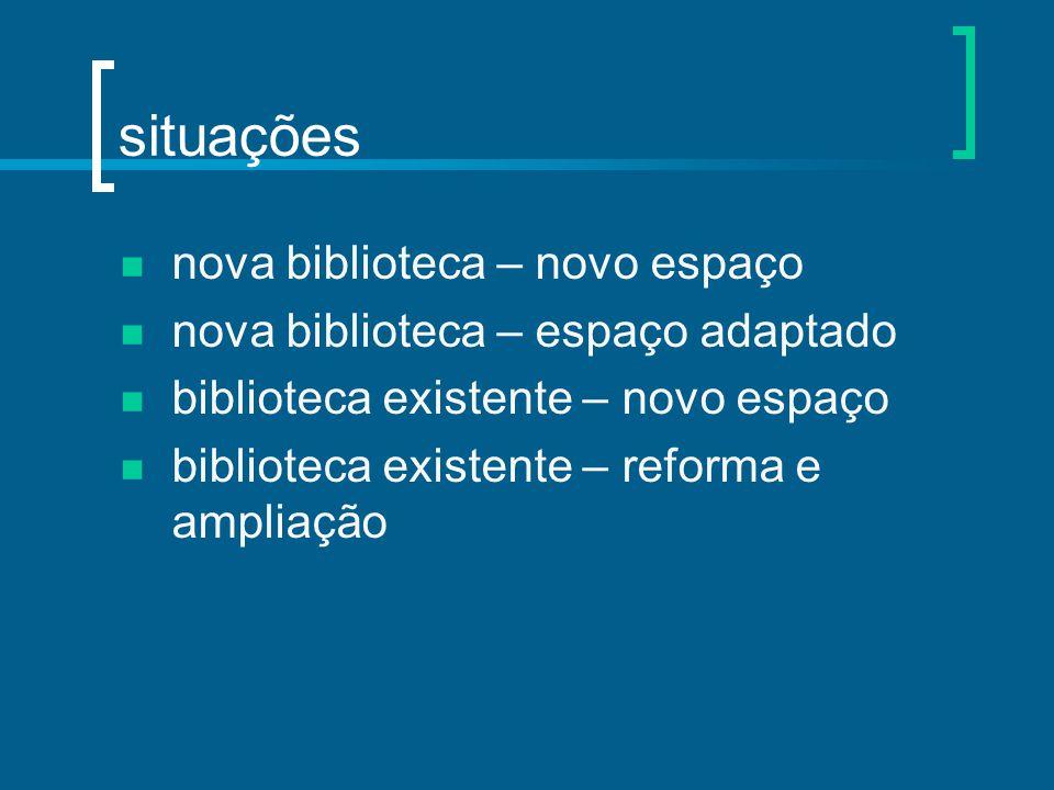situações nova biblioteca – novo espaço