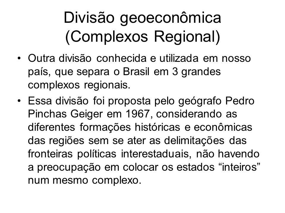 Divisão geoeconômica (Complexos Regional)