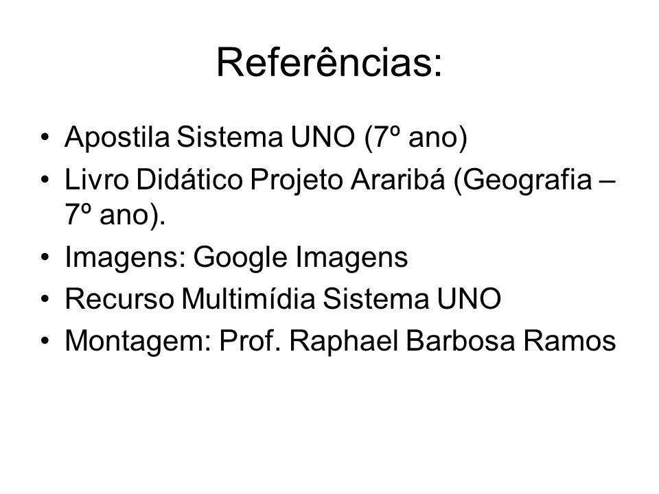 Referências: Apostila Sistema UNO (7º ano)