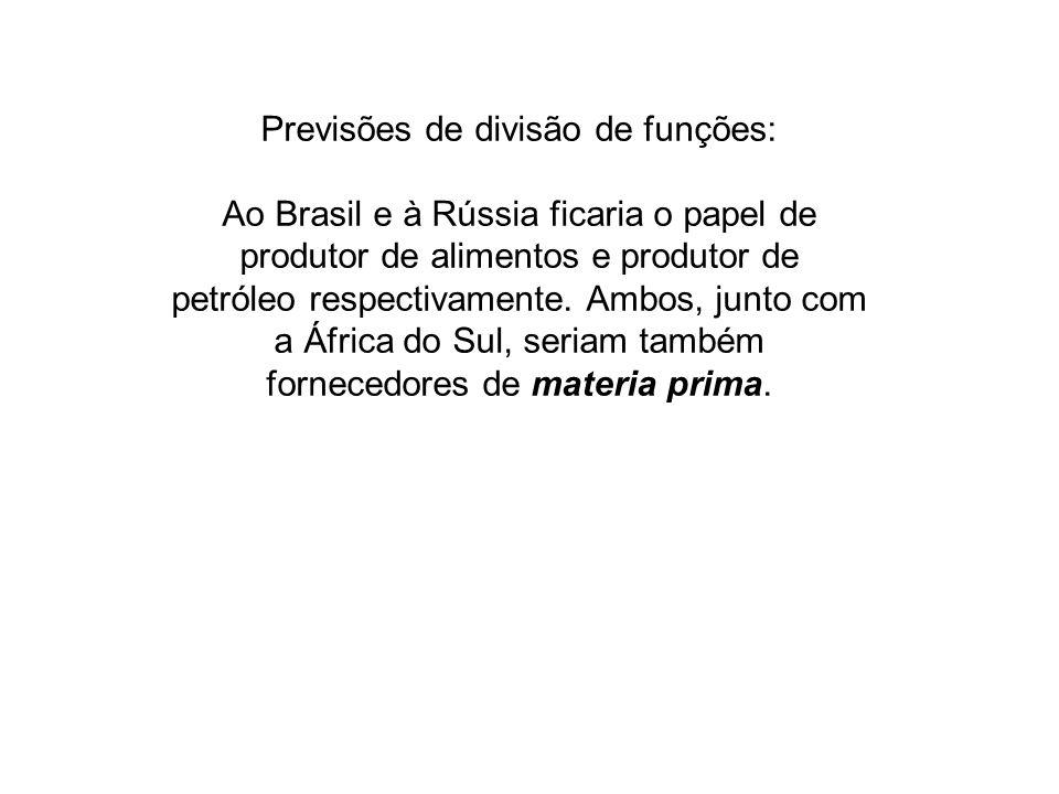 Previsões de divisão de funções: